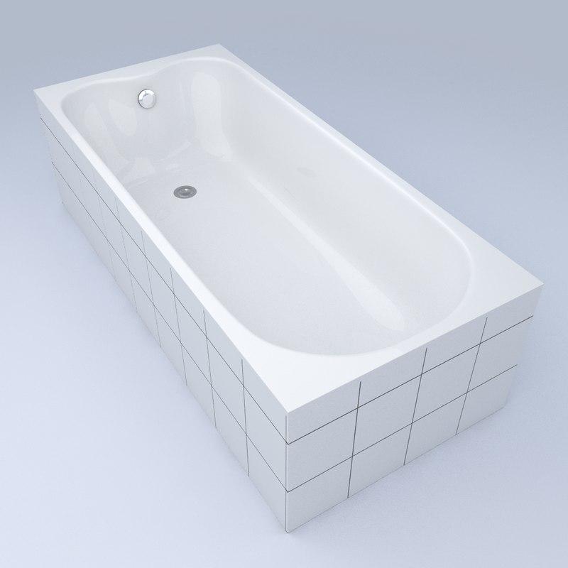 bathtub bath 3d obj