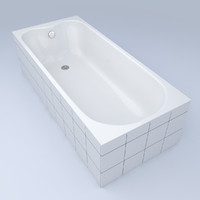 bathtub bath 3d obj