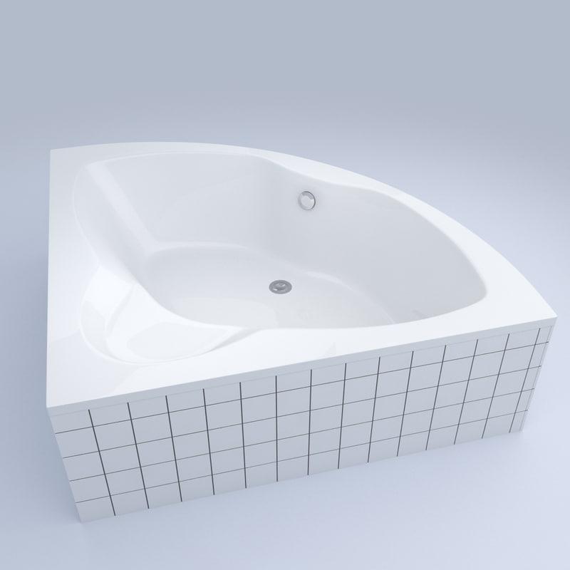 bathtub bath 3d c4d