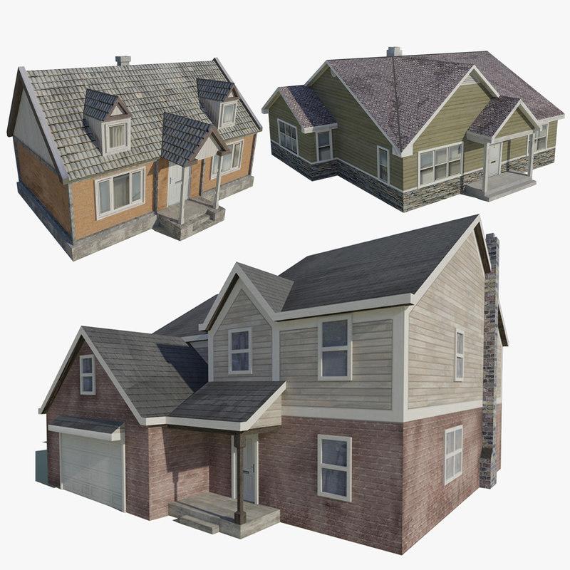 3d family houses games