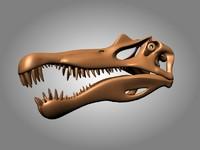 dinosaur skeleton skull spinosaurus 3d max