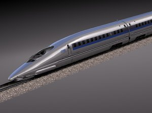 3d model 2014 speed shinkansen