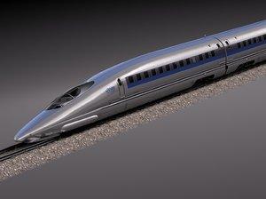 3d model 2014 speed shinkansen