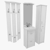 3d model bathroom furniture