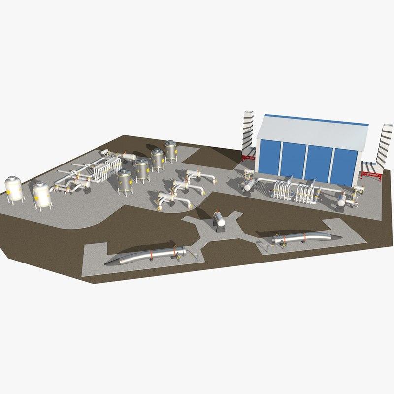 industrial scene 3ds