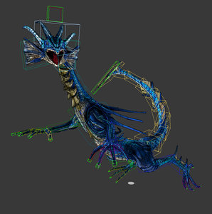 3ds max toon water dragon