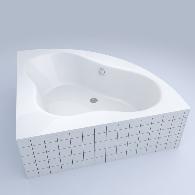 bathtub bath 3d c4d