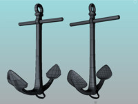 3d model anchor chain