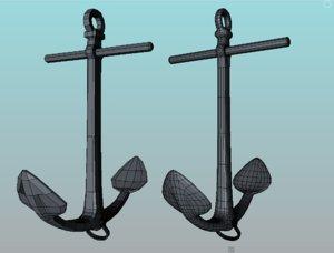 3d model anchor chain