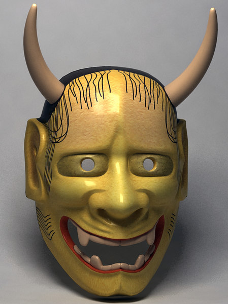 3d japanese demon mask japan model