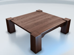3ds max table japanese interior