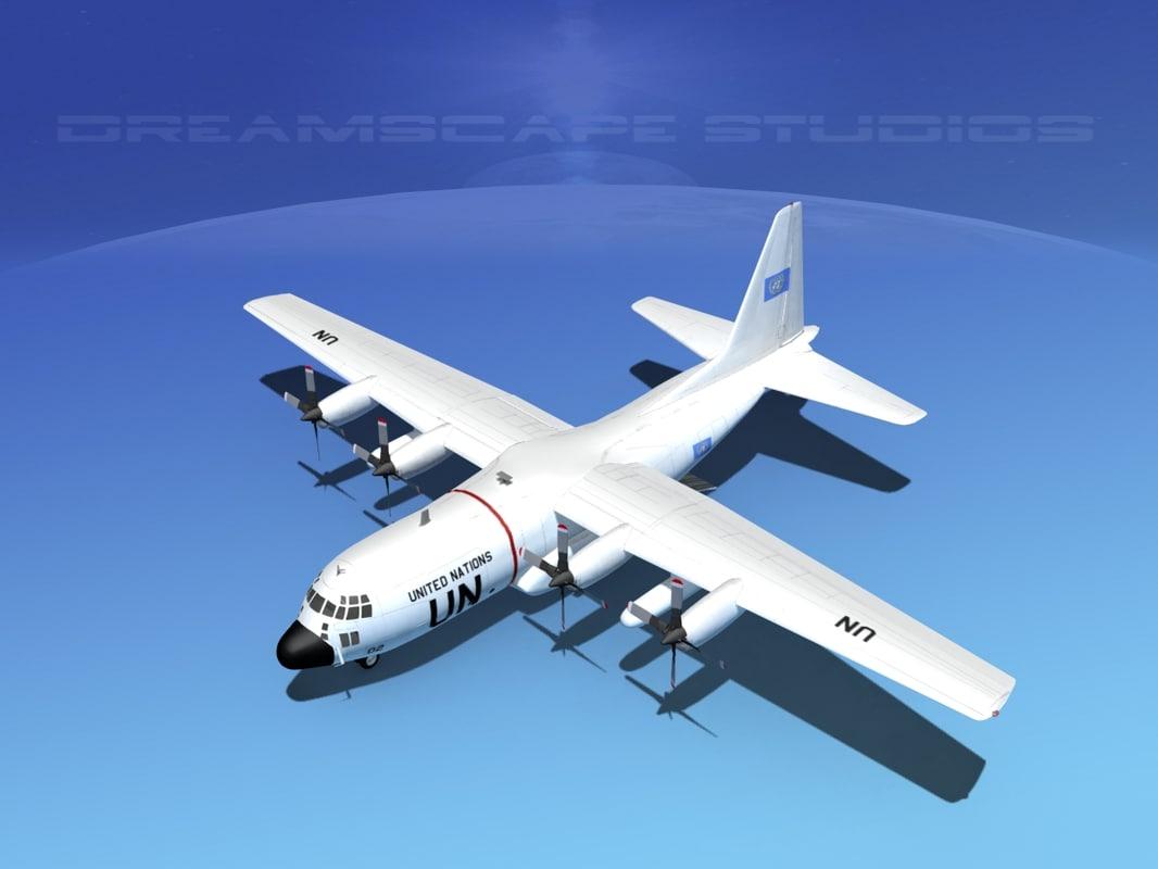 cargo lockheed c-130 hercules air 3d 3ds