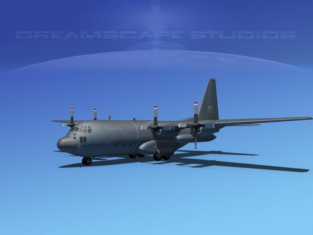 cargo lockheed c-130 hercules air 3d max