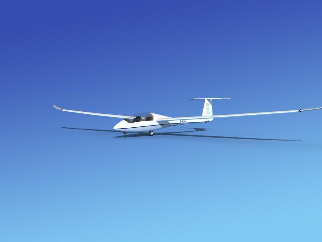 discus duo sailplane plane 3d max