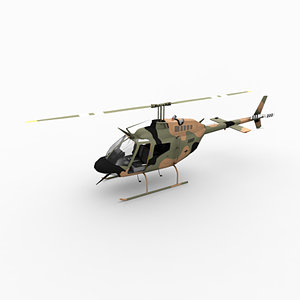 oh-58 kiowa helicopter 3d max