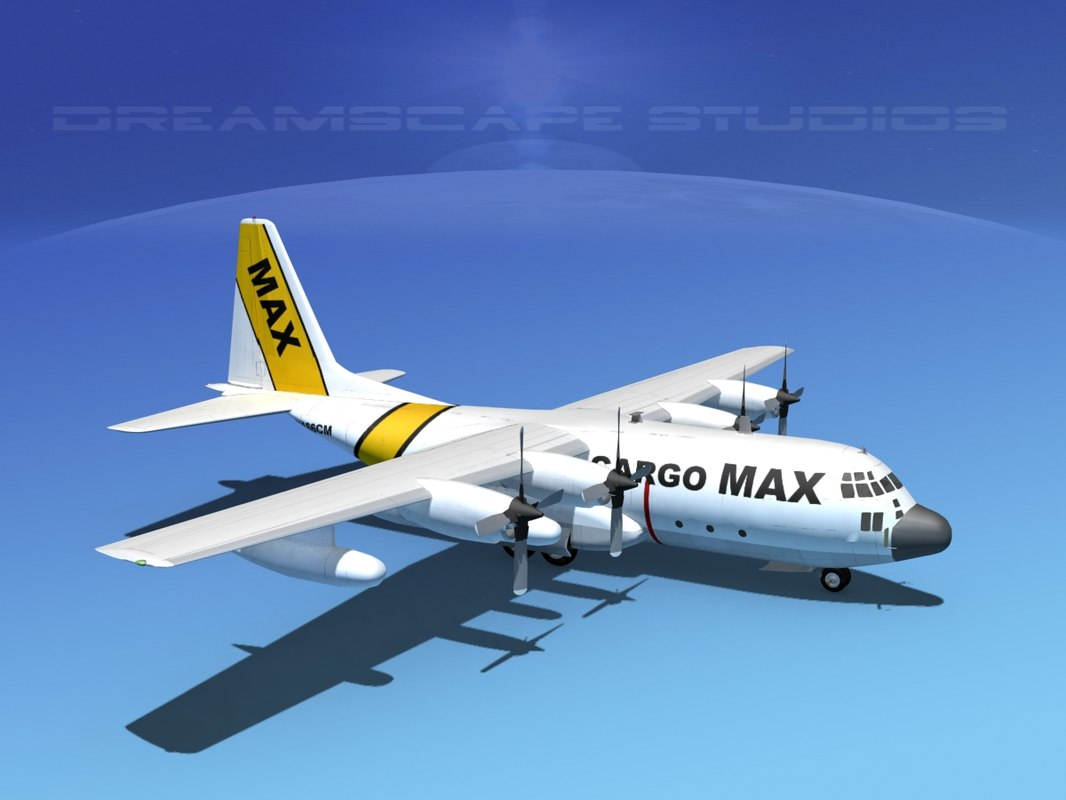 3ds cargo lockheed c-130 hercules air