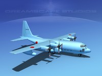 3d cargo lockheed c-130 hercules air