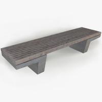 stone park bench 3d model