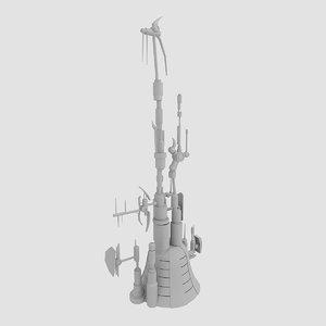 3d antenna sci model
