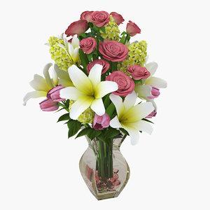 lily rose 3d model