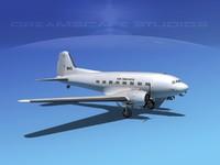 3d model of douglas dc-3 air
