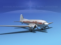 3d model dc-3 douglas air