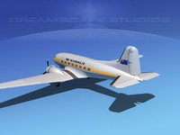 3d model dc-3 douglas air
