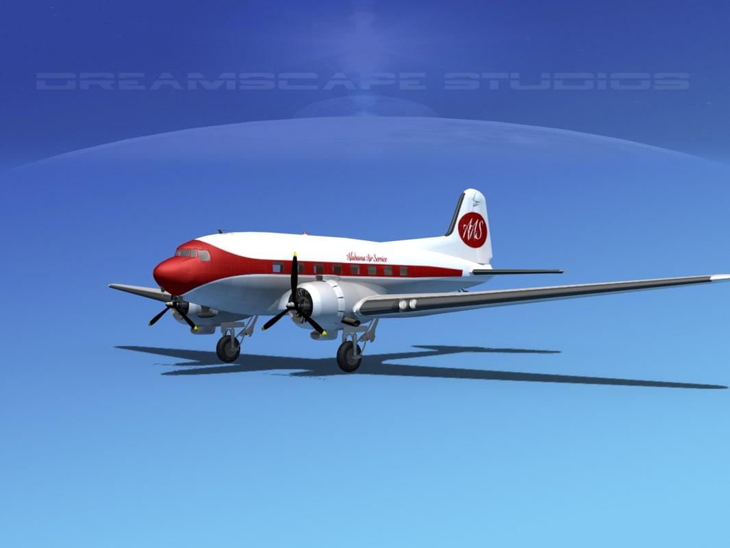 dc-3 douglas air 3d model