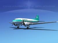 3d model dc-3 airliners douglas