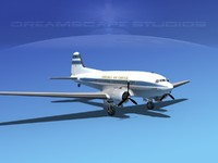 dc-3 douglas air 3d model