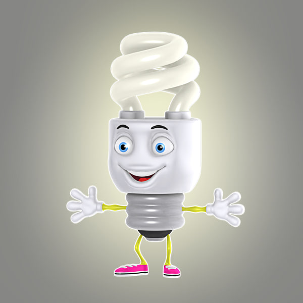3d model cartoon energy saving