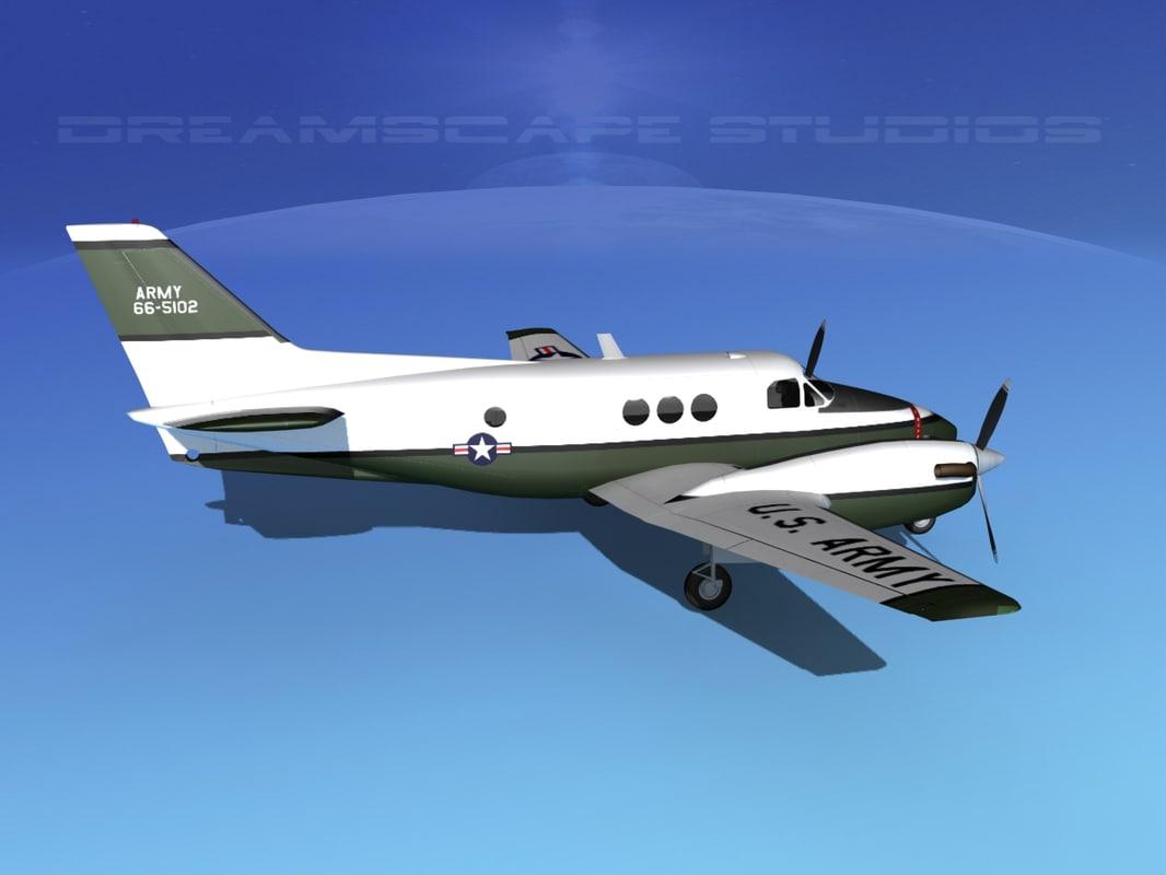 3d max propellers beechcraft c-6 transporting