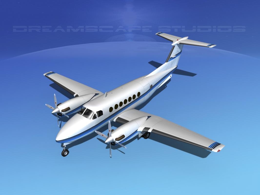 propellers beechcraft super king air 3d dxf