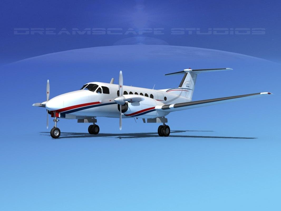 propellers beechcraft super king air dxf