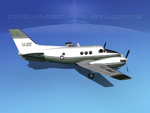 3d max propellers beechcraft c-6 transporting