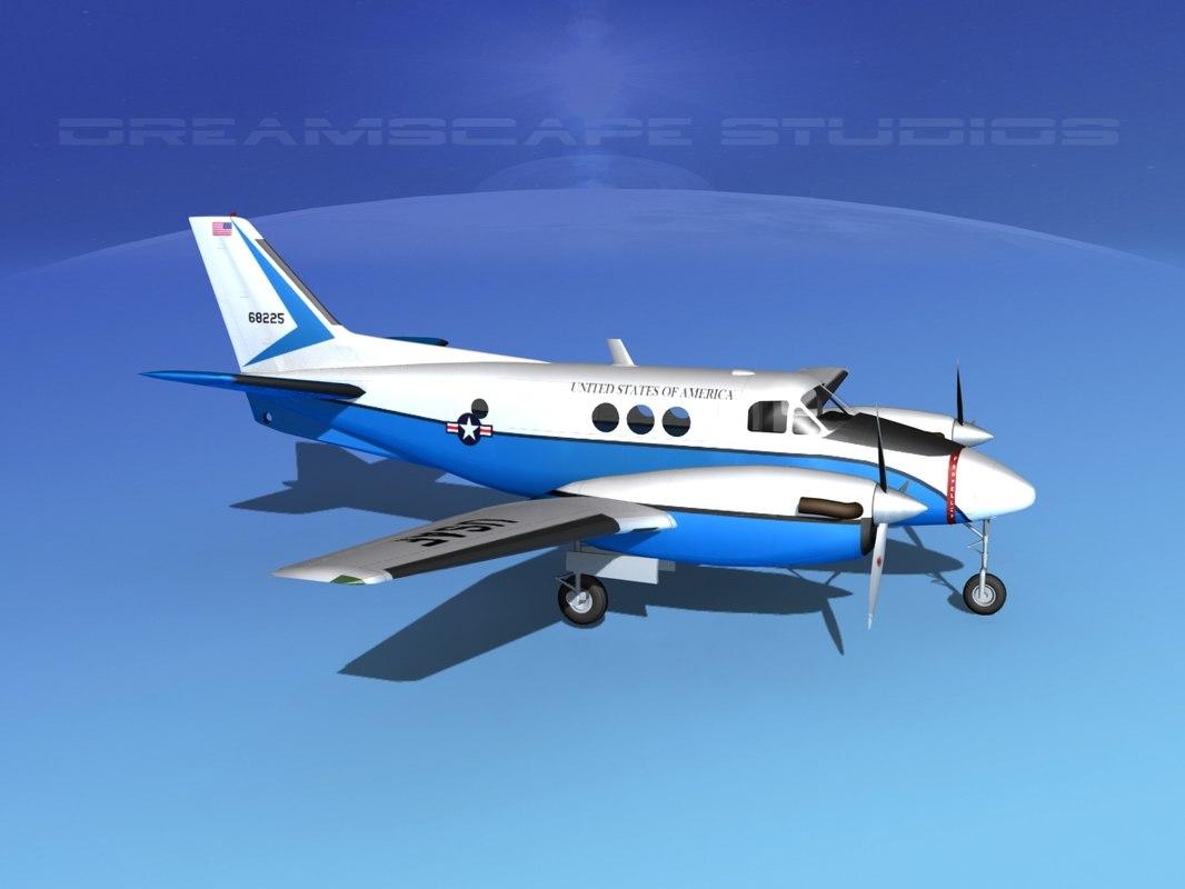 propellers beechcraft c-6 transporting 3d model
