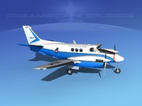 propellers beechcraft c-6 transporting 3d model