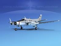 3d model propellers beechcraft c-6 transporting