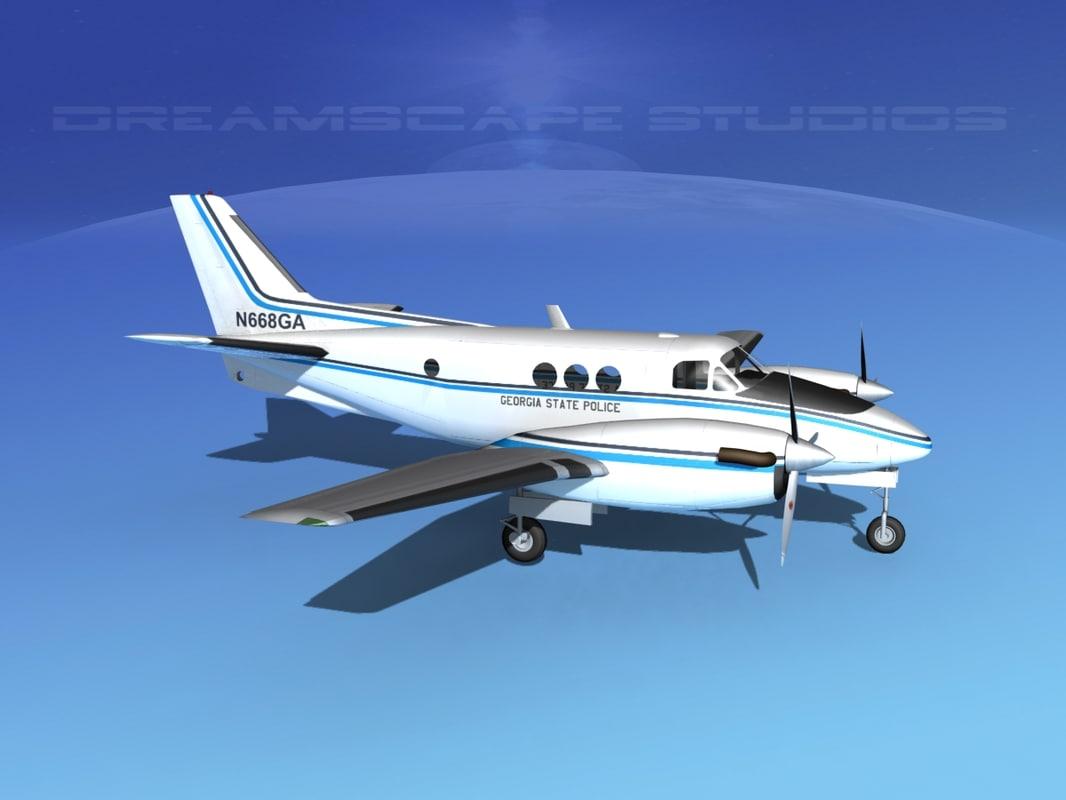 propellers beechcraft c-6 transporting 3ds