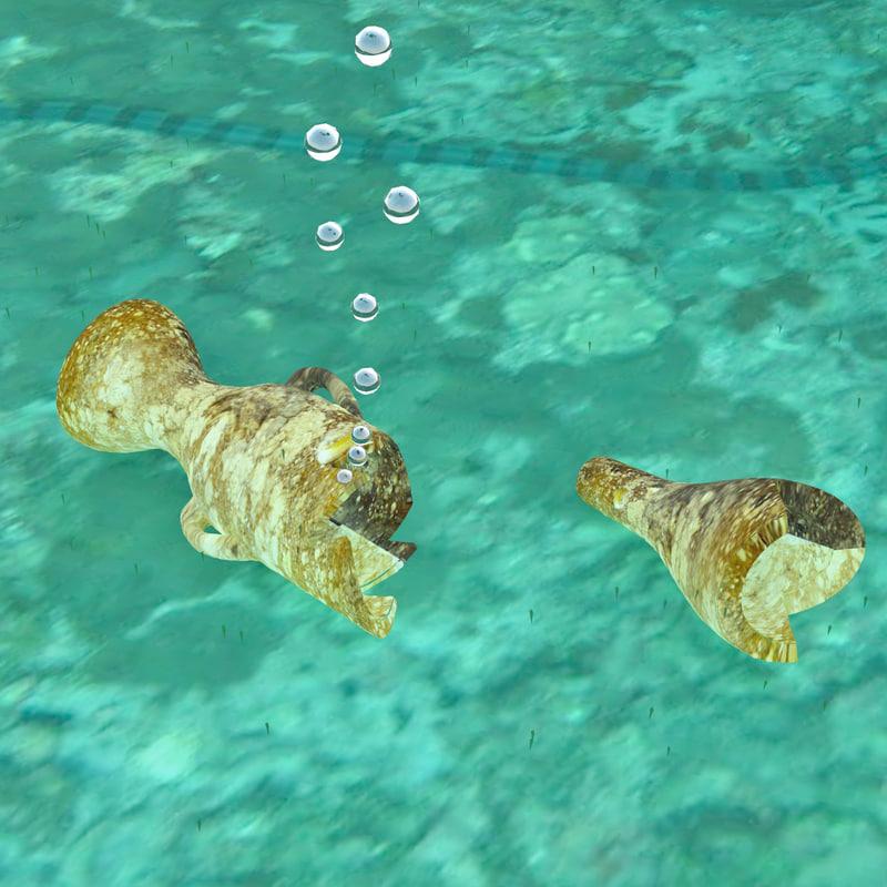 3d amphora underwater