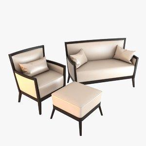 sofa veneta sedie armchair 3d model