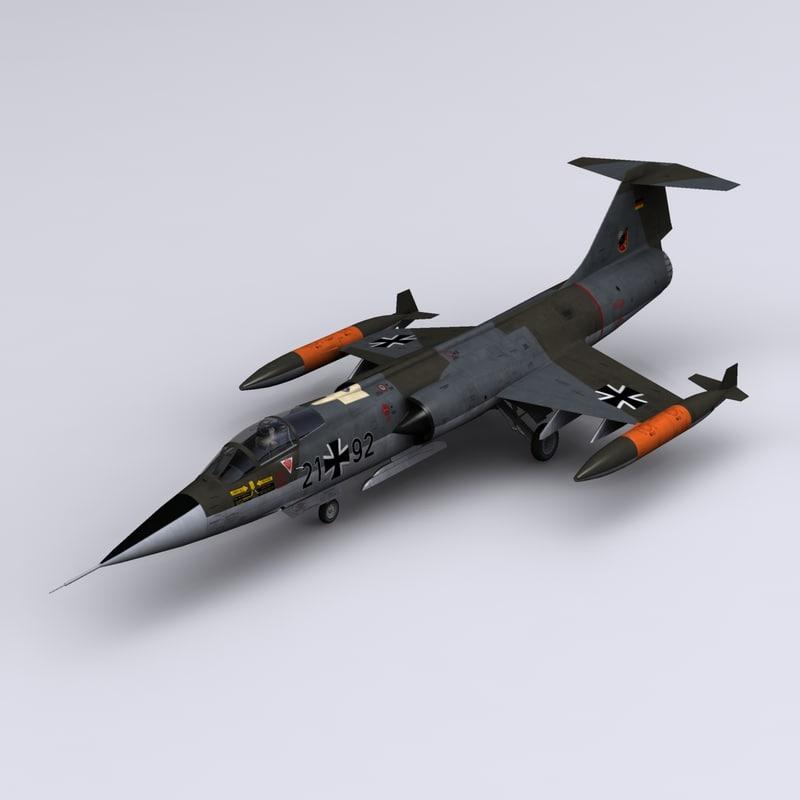 starfighter f-104g 32 3d max