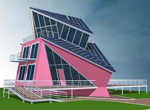 building hotel cafe 3d model