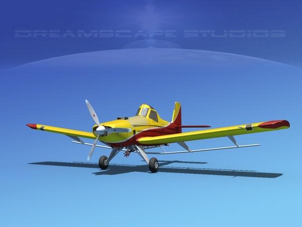 propellers dusting embraer 3d model