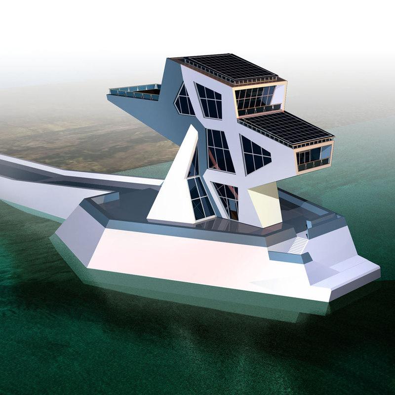 3d model architecture futuristic