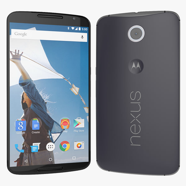 3d model google nexus 6 motorola