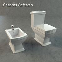 cezares palermo toilet bidet 3d model