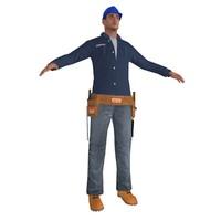 fbx worker man