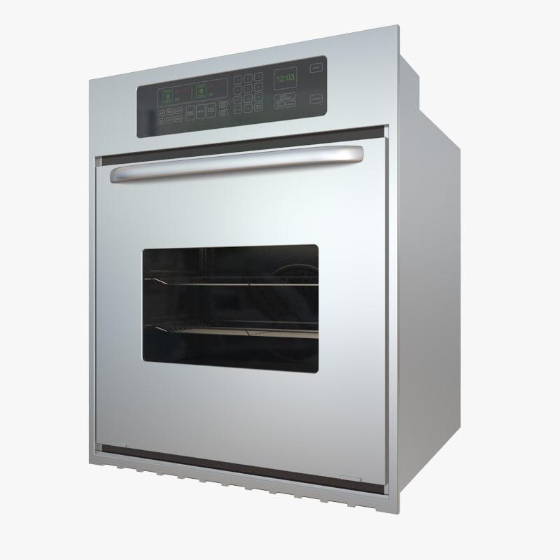 3d kitchen oven model
