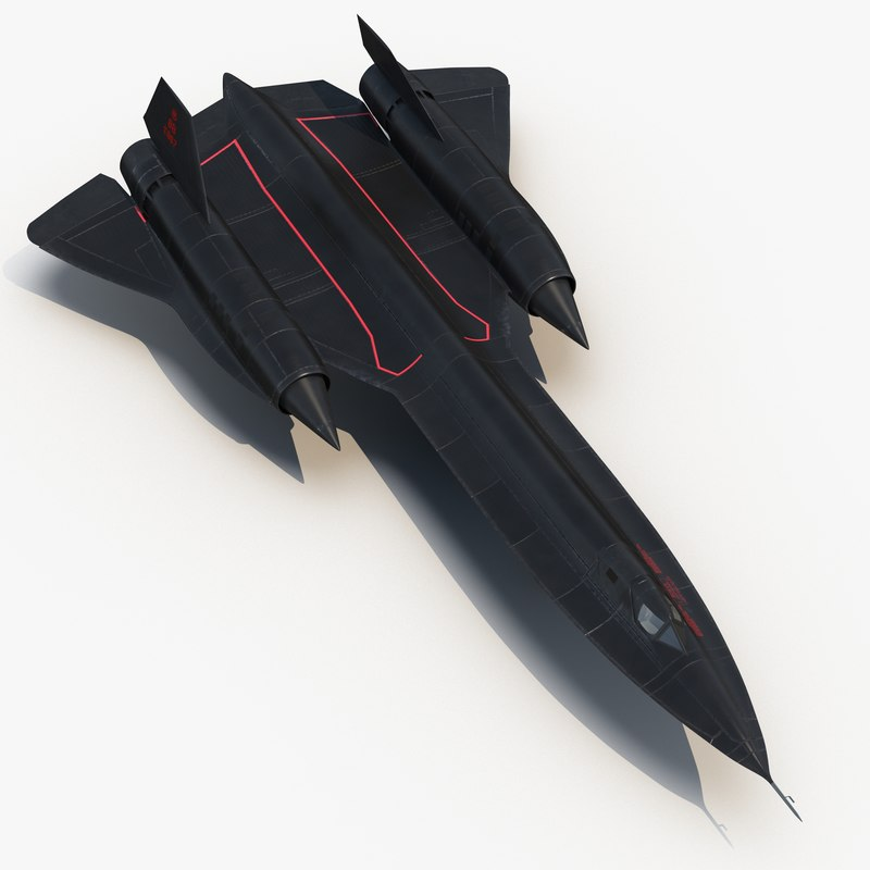 sr-71 blackbird rigged 3d model